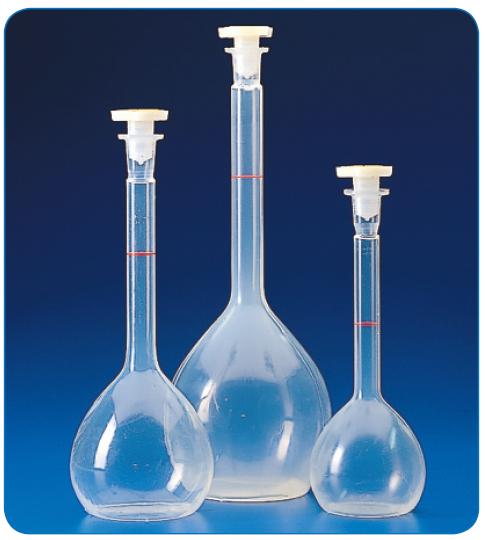 Matraz aforado clase A 100 ml 2 uds LBG 3.3 boca 14//23